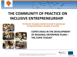 THE COMMUNITY OF PRACTICE ON INCLUSIVE ENTREPRENEURSHIP