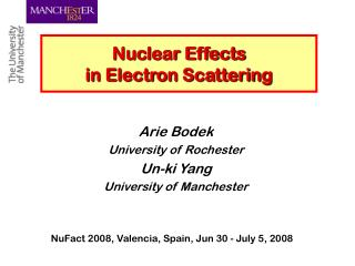 Nuclear Effects  in Electron Scattering
