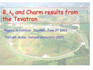 B, λ B and Charm results from the Tevatron