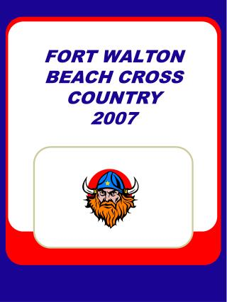 FORT WALTON BEACH CROSS COUNTRY   2007