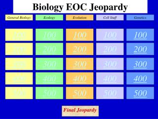 Biology EOC Jeopardy