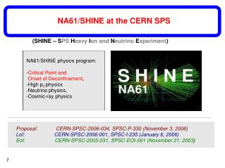 NA61/SHINE physics program: - Critical Point and   Onset of Deconfinement , -High p T  physics