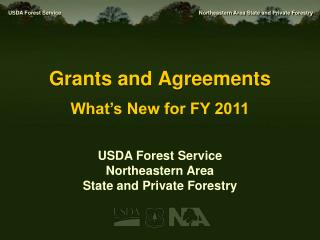 Grants and Agreements