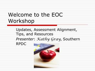Welcome to the EOC Workshop