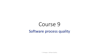 Software quality through test, continuous integration and quantitative process control