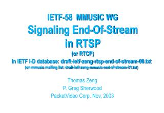 Signaling End-Of-Stream  in RTSP (or RTCP)