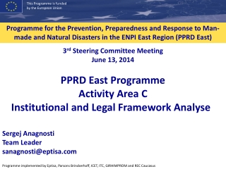 Institutional                Legal Frameworks for Disaster Preparedness