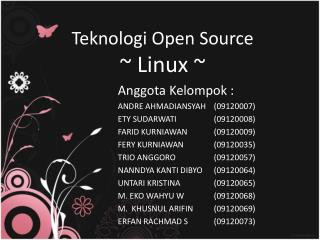 Teknologi  Open Source ~ Linux ~