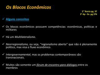 Os Blocos Econômicos