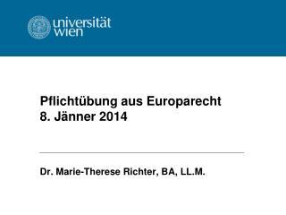 Pflichtübung aus Europarecht 8. Jänner 2014