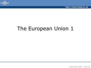 The European Union 1