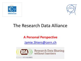 The Research Data Alliance