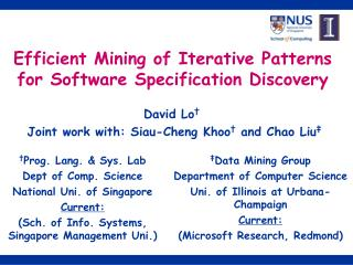 Efficient Mining of Iterative Patterns for Software Specification Discovery