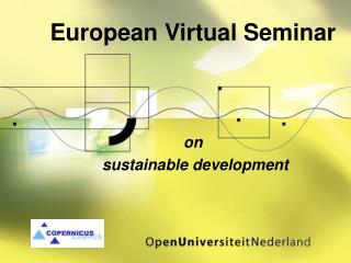 European Virtual Seminar on  sustainable development