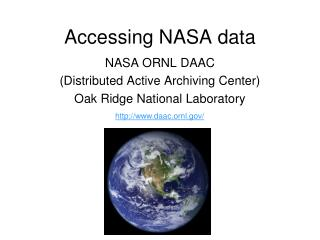 Accessing NASA data