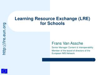 Learning Resource Exchange (LRE) for Schools