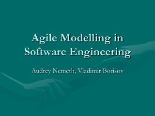 Agile Modelling in Software Engineering