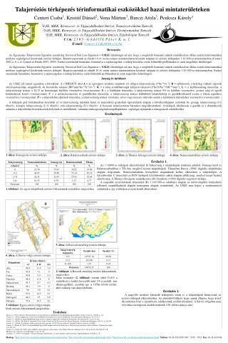 Talajeróziós térképezés térinformatikai eszközökkel hazai mintaterületeken