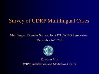 Survey of UDRP Multilingual Cases