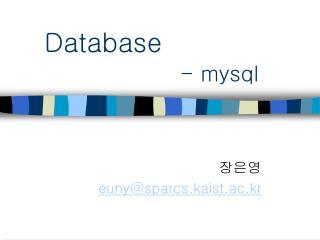 Database - mysql