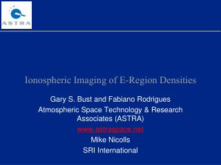Ionospheric Imaging of E-Region Densities