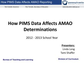 How PIMS Data Affects AMAO Determinations