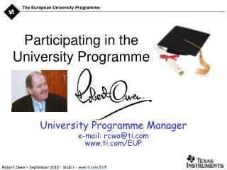 Participating in the  University Programme