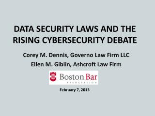 Data Security Laws and the Rising Cybersecurity Debate