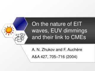On the nature of EIT waves, EUV dimmings and their link to CMEs