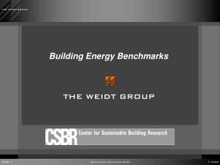 Building Energy Benchmarks