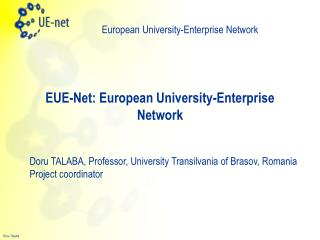 EUE-Net: European University-Enterprise Network