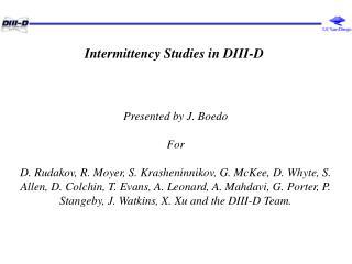 Intermittency Studies in DIII-D