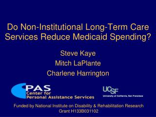 Do Non-Institutional Long-Term Care Services Reduce Medicaid Spending?