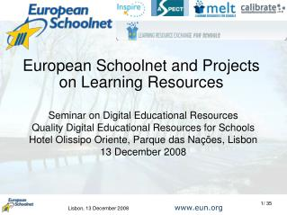 European Schoolnet and Projects on Learning Resources