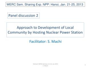 Approach to Development of Local Community by Hosting Nuclear Power Station