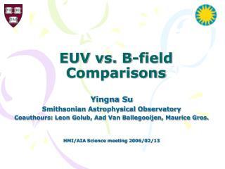 EUV vs. B-field Comparisons