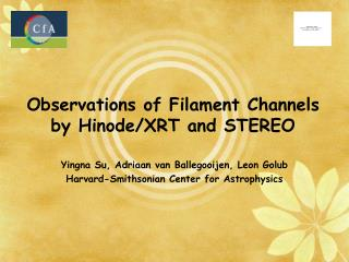 Observations of Filament Channels by Hinode/XRT and STEREO
