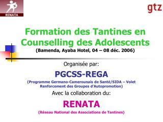 Formation des Tantines en Counselling des Adolescents (Bamenda, Ayaba Hotel, 04 – 08 déc. 2006)