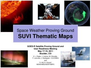 Space Weather Proving Ground SUVI Thematic Maps