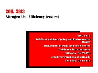 Nitrogen Use Efficiency (review)