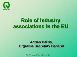 Role of industry associations in the EU
