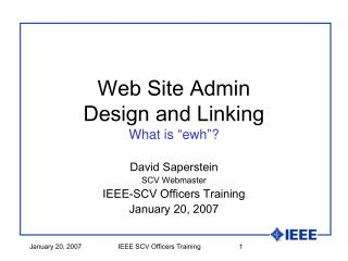 "Web Site Admin Design and Linking What is  "" ewh "" ?"