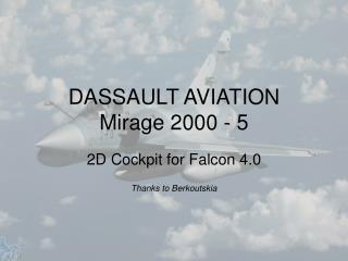 DASSAULT AVIATION Mirage 2000 - 5
