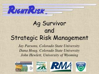 Ag Survivor  and Strategic Risk Management