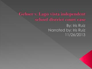 Gebser v. Lago vista independent school district court case