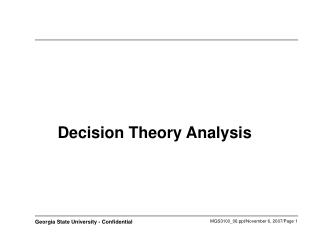 Decision Theory Analysis