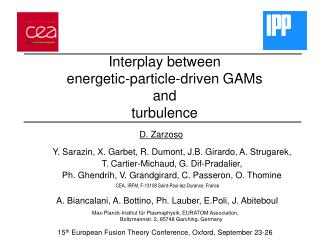 Interplay between energetic-particle-driven GAMs and turbulence