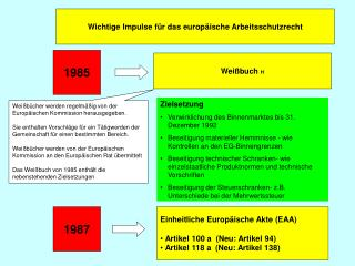 Wichtige Impulse für das europäische Arbeitsschutzrecht