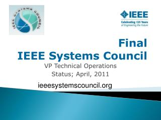 Final IEEE Systems Council