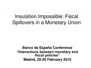 Insulation Impossible: Fiscal Spillovers in a Monetary Union